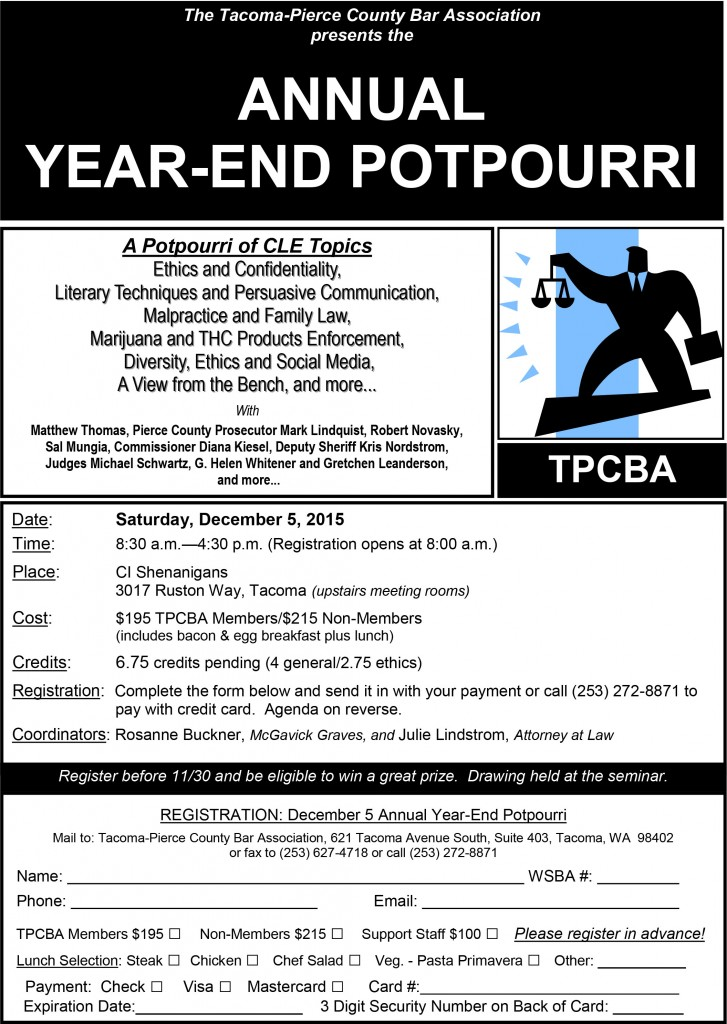 2015 CLE Year End Potpourri Flyer