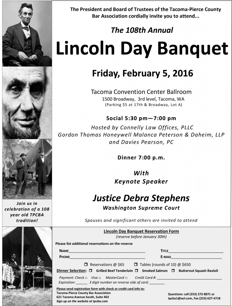 2016 Lincoln Day Banquet