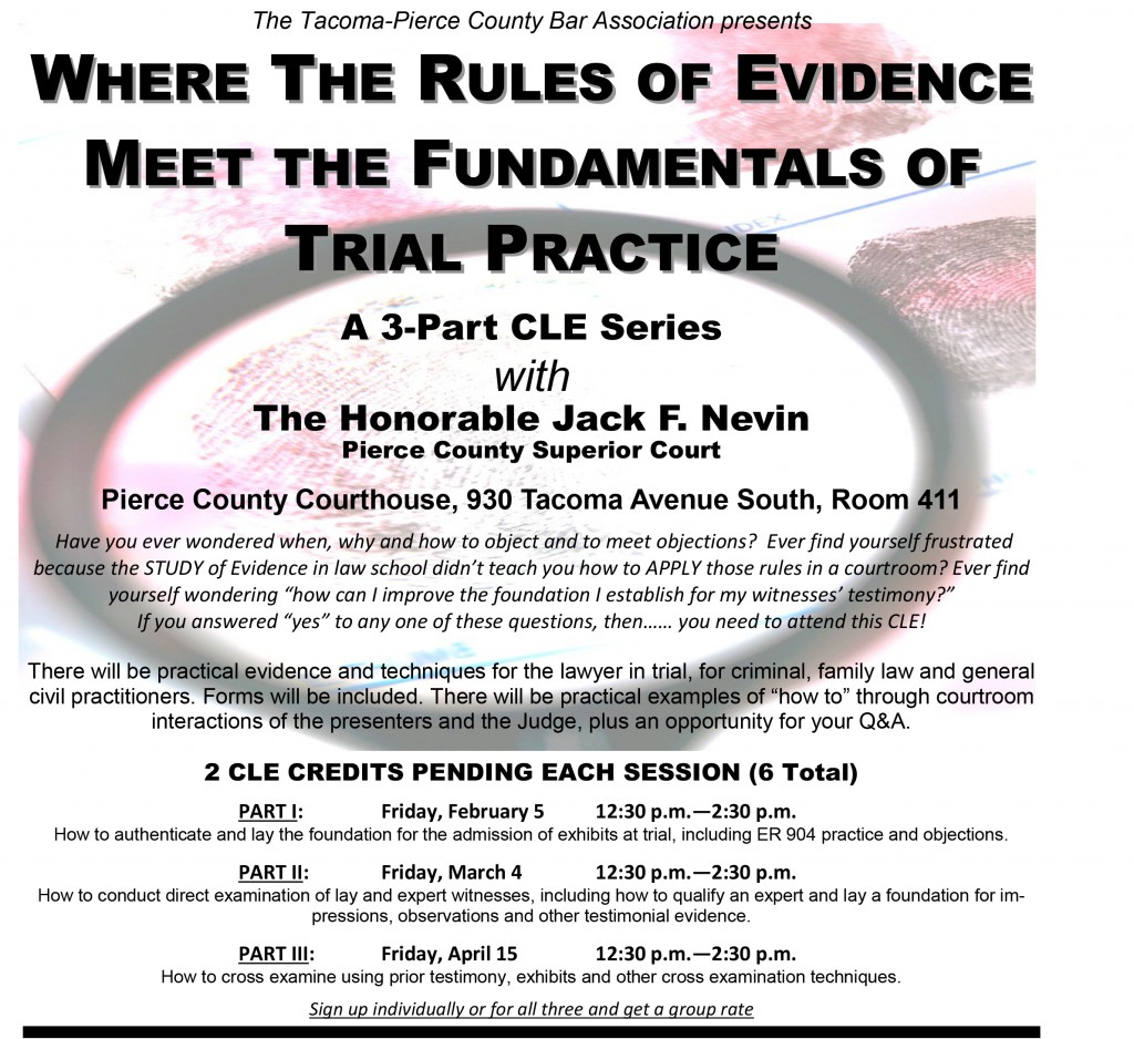 2016 CLE - Evidence