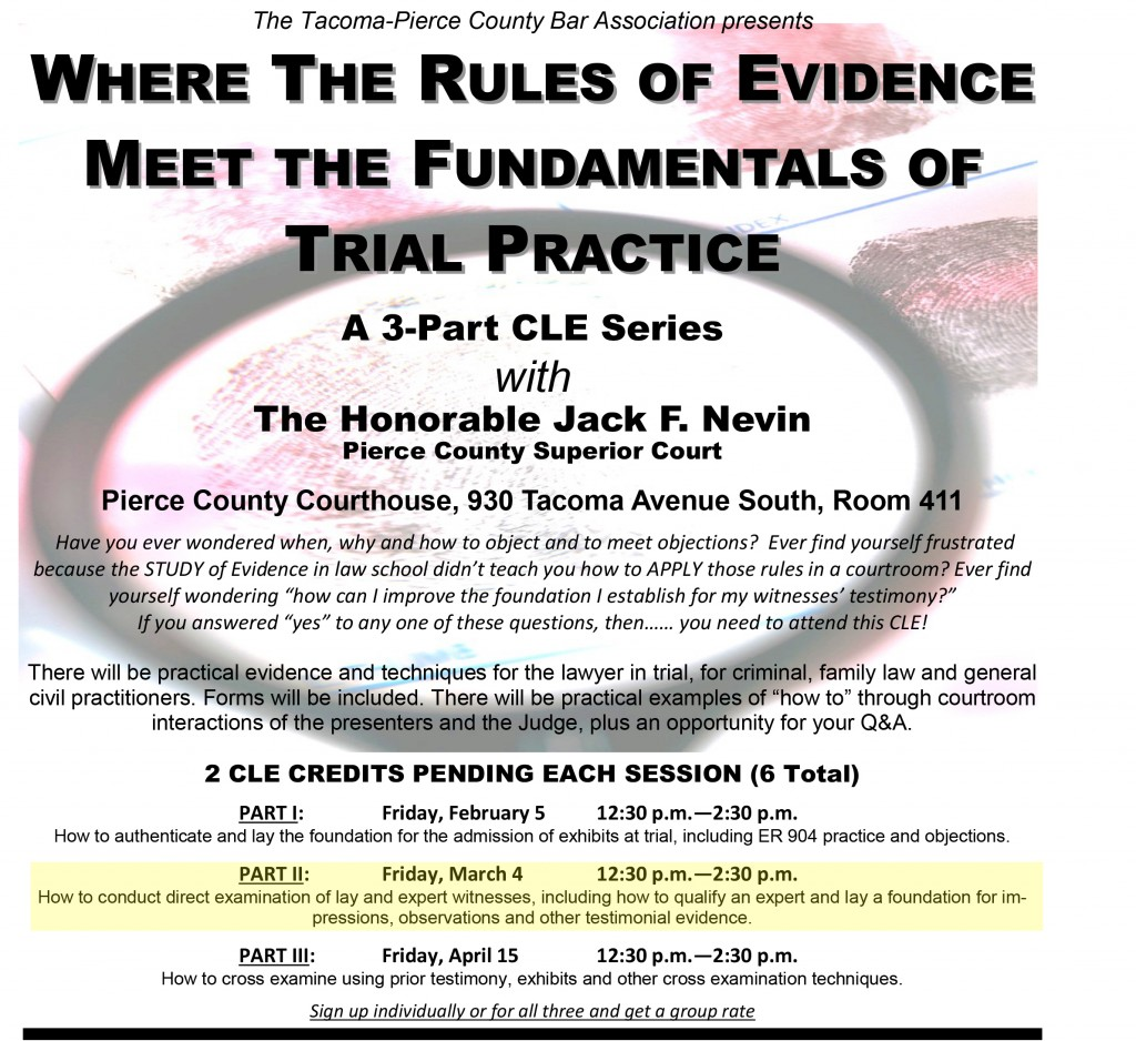 2016 CLE - Evidence 2