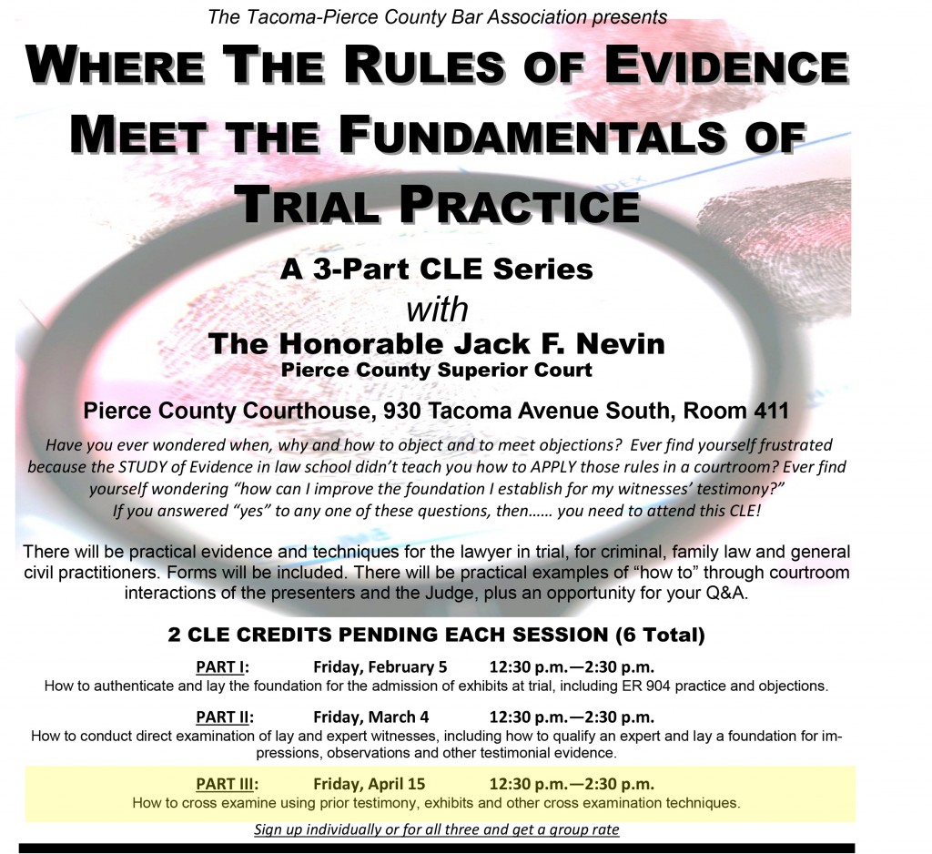2016 CLE - Evidence 3