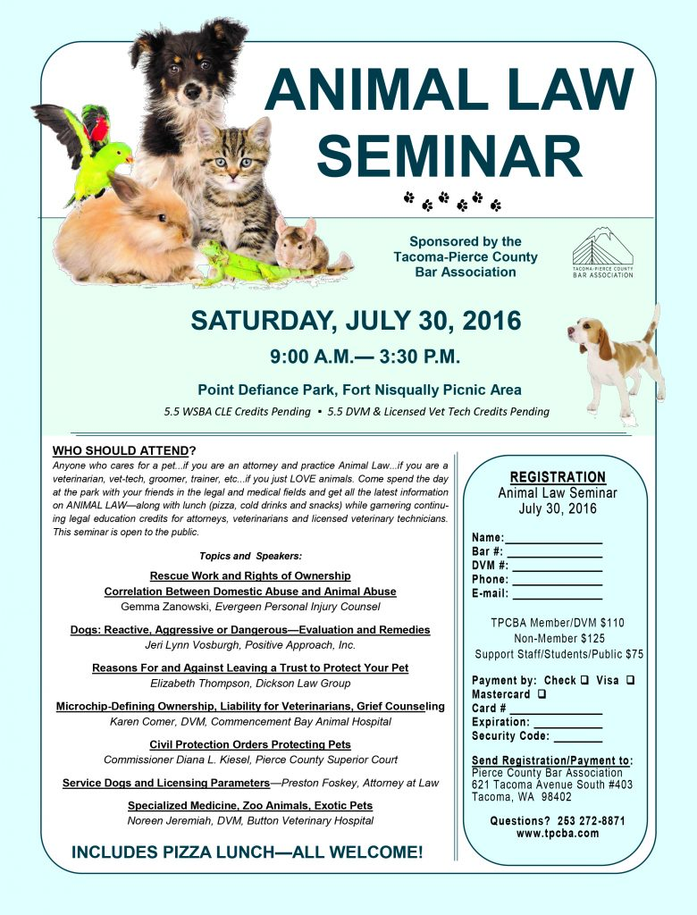 2016 Animal Law CLE
