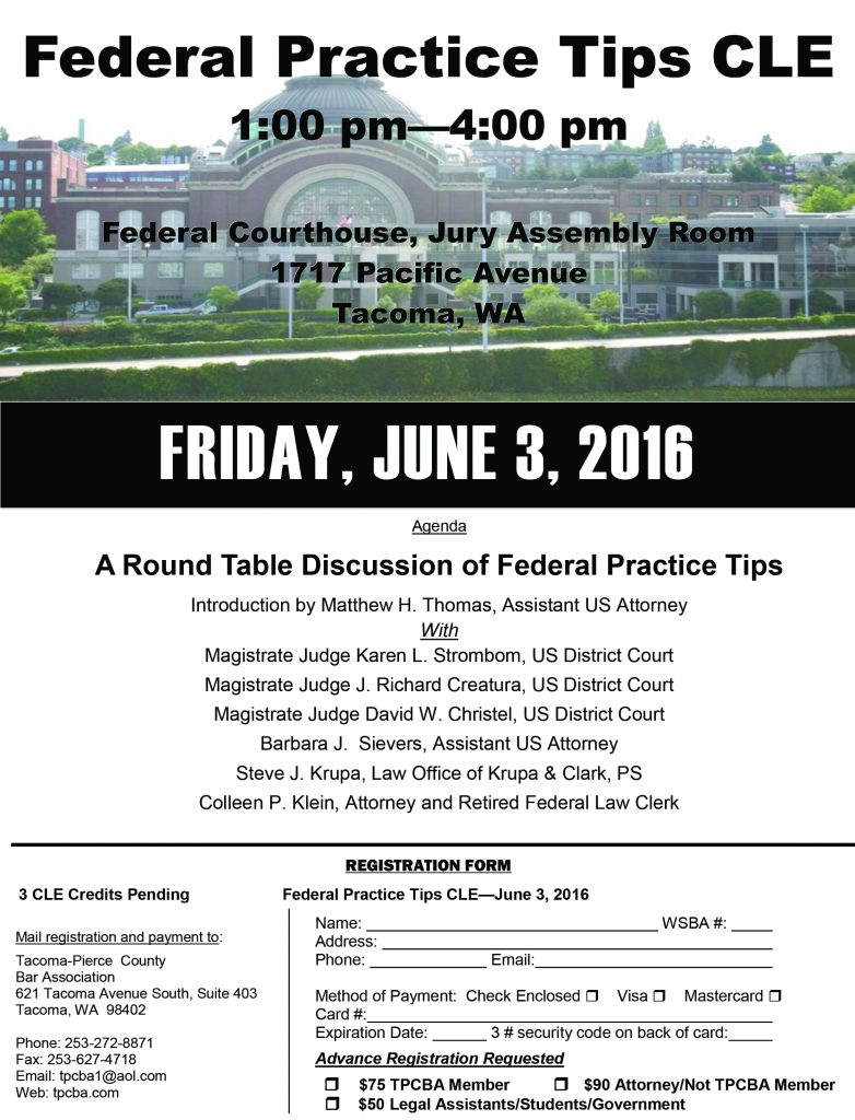 2016 Federal Practice CLE
